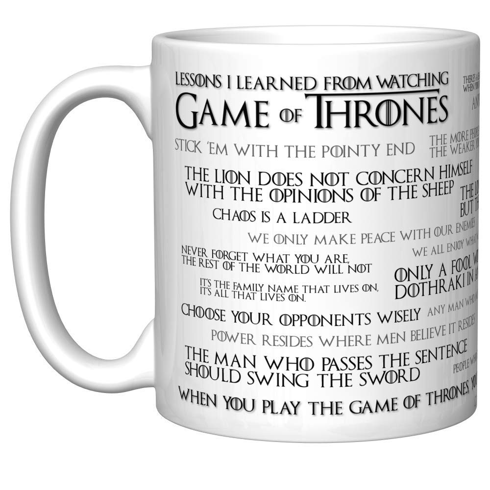 "A little kitsch and a lot of warm fuzzies can be had over these obsessions with the simple form of a mug, like this one with a ""Game of Thrones"" theme."