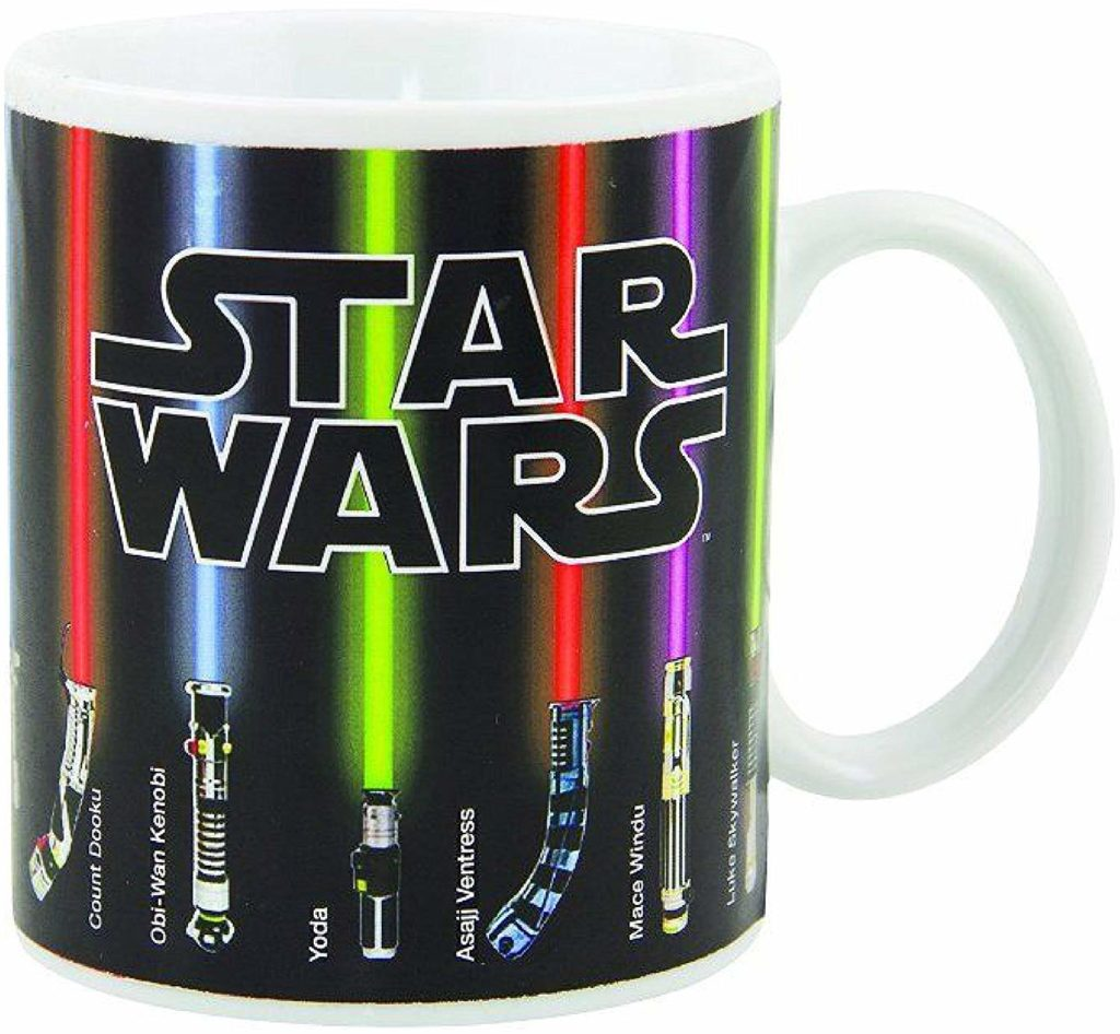 "A little kitsch and a lot of warm fuzzies can be had over these obsessions with the simple form of a mug, like this one with an ""Star Wars"" theme."
