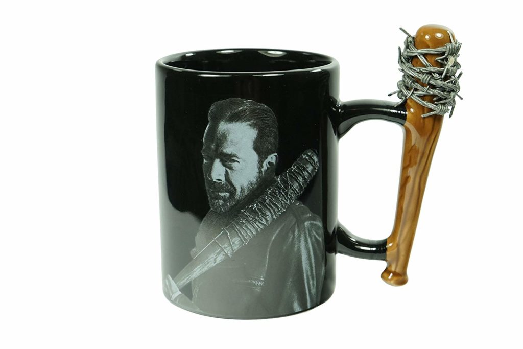 "A little kitsch and a lot of warm fuzzies can be had over these obsessions with the simple form of a mug, like this one with a ""The Walking Dead"" theme."