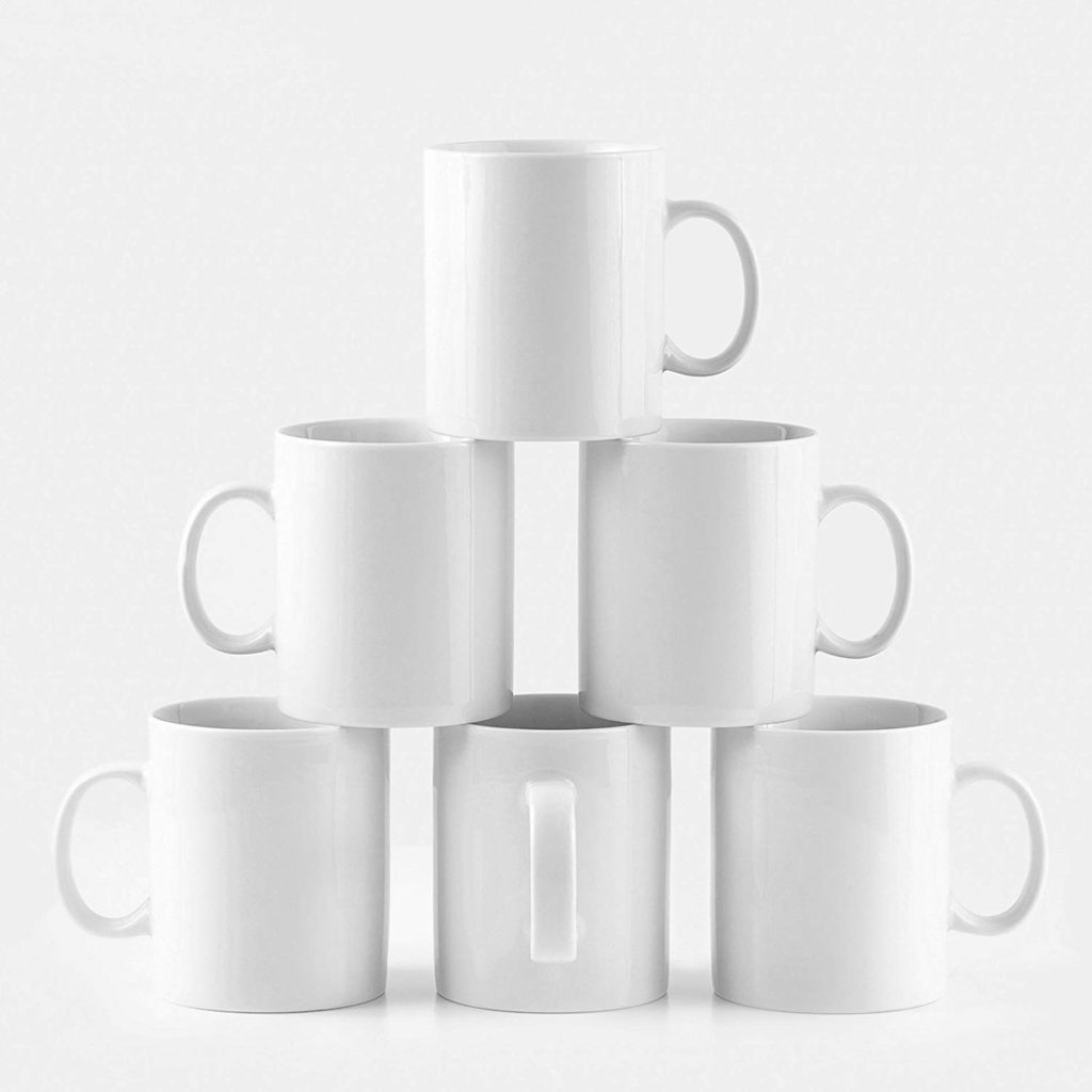 The mug that never goes out of style. It's basic, yes, but that doesn't affect its ability to keep up with trends—or, at the very least, not conflicting with them. Easily replaceable, there's no worry about chipping these workhorses since it's simple to find a new one that goes.
