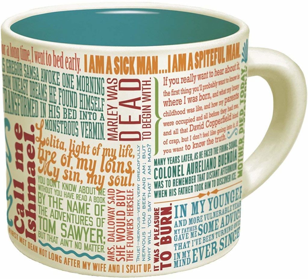 Books have the ability to transport a reader to a new land, time or an entire world. Words on a page are transformative, meaningful and inspiring, and you can bring those feelings to life each and every morning with the right mug.