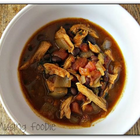 Slow Cooker Black Bean Chicken Chili