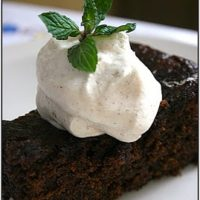 Ginger Cake with Cardamom Cream