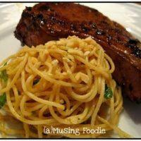 Marinated Asian Pork Chops & Sesame Peanut Noodles