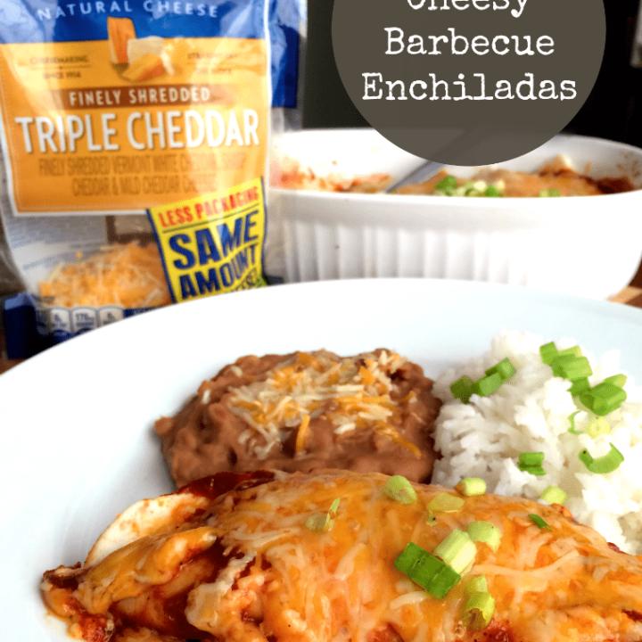 Cheesy Barbecue Chicken Enchiladas