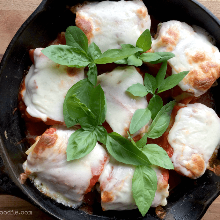 Lasagna Rolls In A Cast Iron Skillet