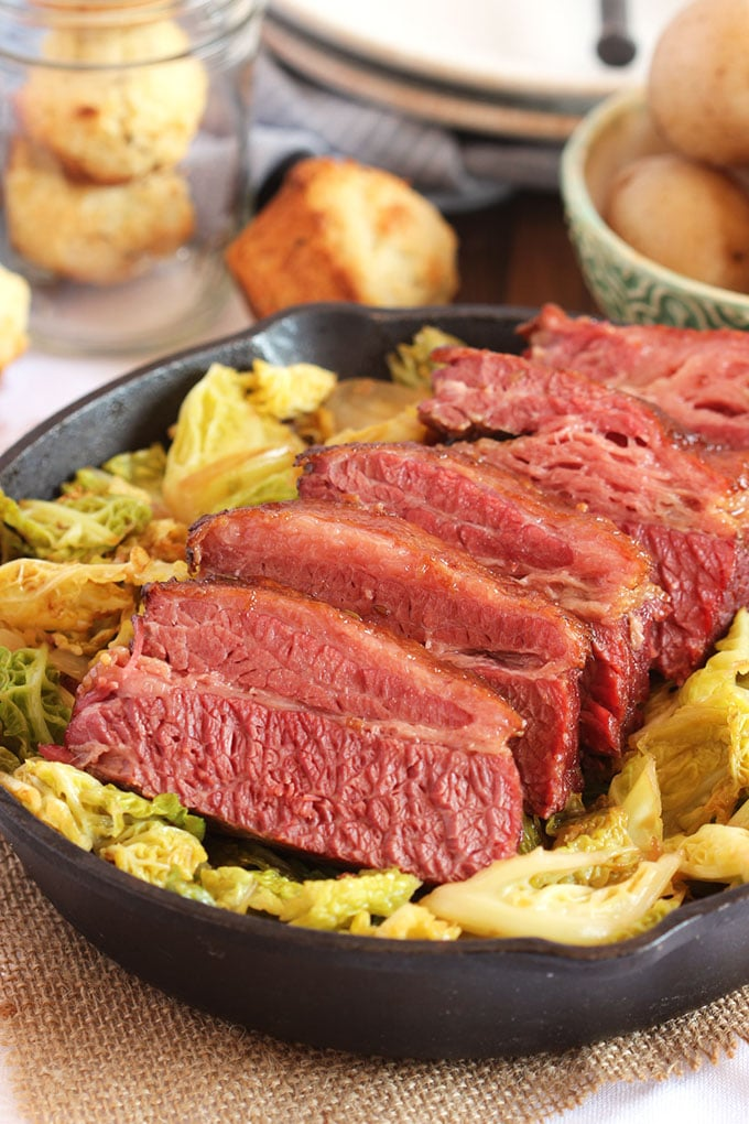 Even though most folks think about corned beef recipes in March thanks to St. Patrick's Day, corned beef makes for a yummy meal any time of the year! Try this corned beef and cabbage from thesuburbansoapbox.com!