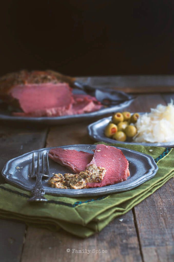 Even though most folks think about corned beef recipes in March thanks to St. Patrick's Day, corned beef makes for a yummy meal any time of the year! Try this baked corned beef with mustard crust from familyspice.com!