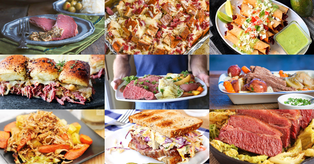Even though most folks think about corned beef recipes in March thanks to St. Patrick's Day, corned beef makes for a yummy meal any time of the year!