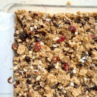 Cranberry Chocolate Cereal Squares