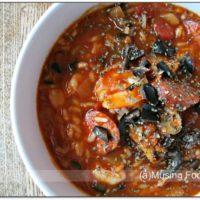 Mediterranean Inspired Shrimp & Sausage Slow Cooker Jambalaya