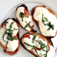 Melted Caprese Crostini