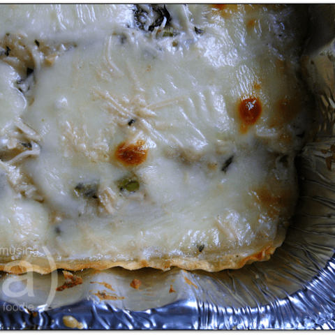 Chicken and Portobello Mushroom Creamy White Lasagna