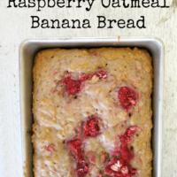 Raspberry Oatmeal Banana Bread