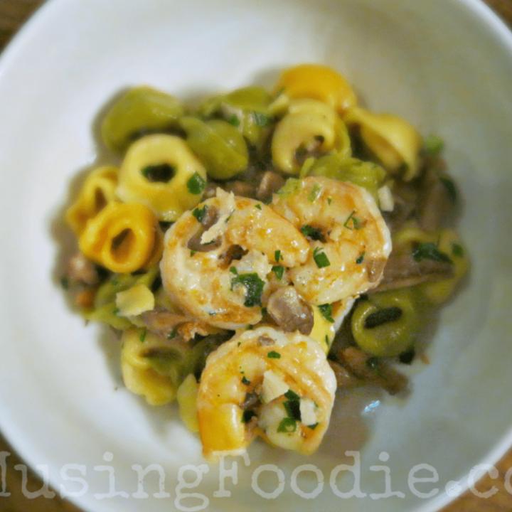 Shrimp & Mushroom Parmesan Tortellini