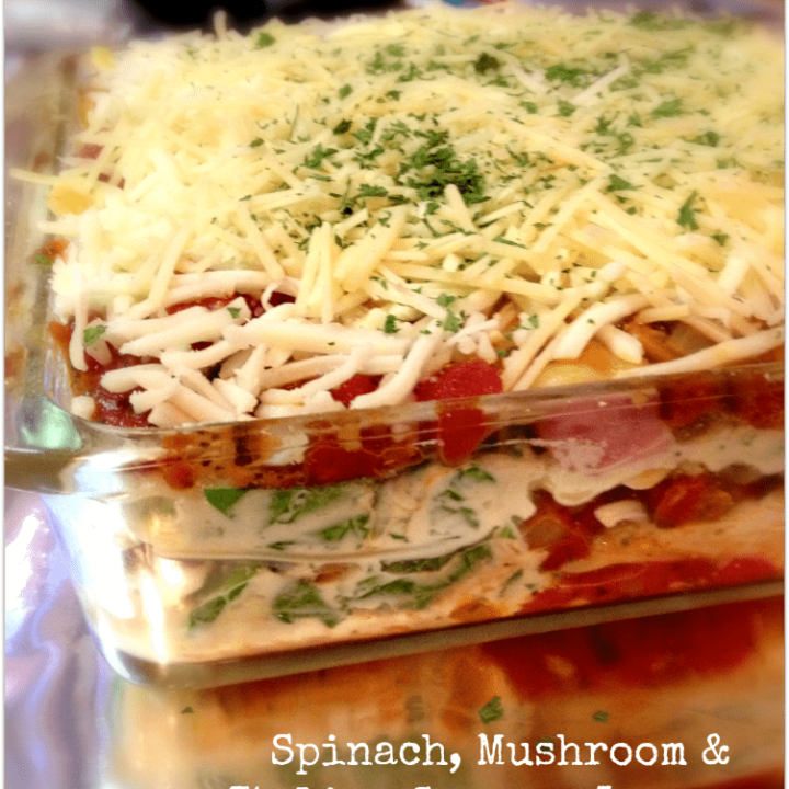 Spinach, Mushroom & Italian Sausage Lasagna