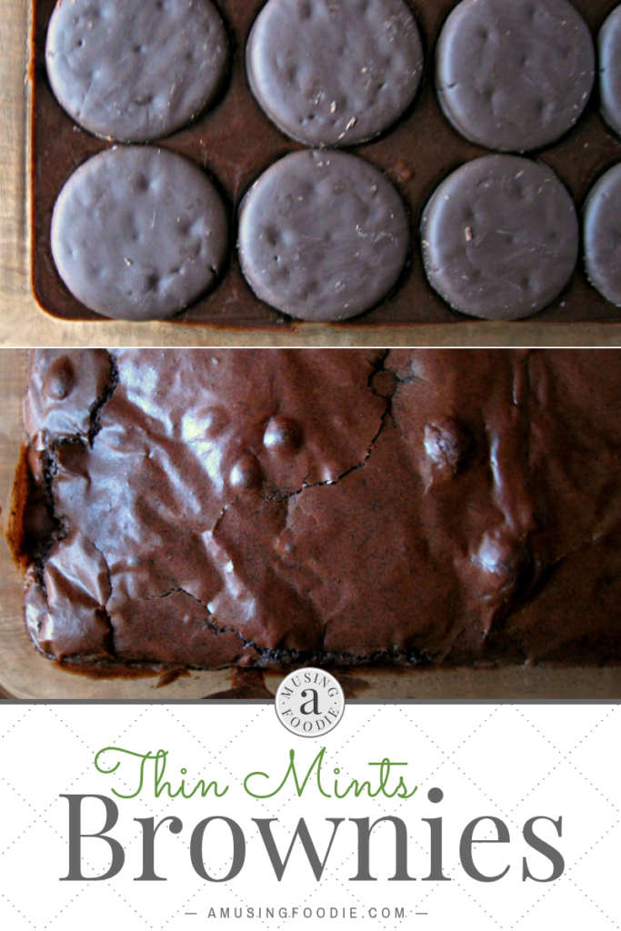 These homemade Thin Mints brownies are simple to make and loaded with rich, dark chocolate fudgy flavor.