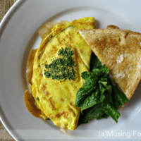 Lump Crab & Fresh Spinach Cheese Omelettes