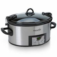 Crock-Pot SCCPVL610-S-A 6-Quart Cook & Carry Programmable Slow Cooker with Digital Timer Stainless Steel