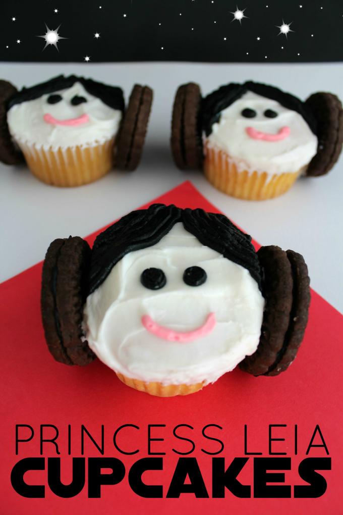Super Easy Princess Leia Cupcakes