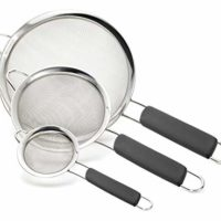 Bellemain Stainless Steel Fine Mesh Strainers, Set of 3 Graduated Sizes with Comfortable Non Slip Handles