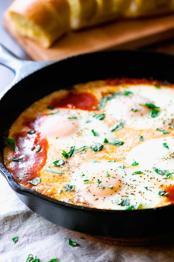 Creamy Italian Baked Eggs