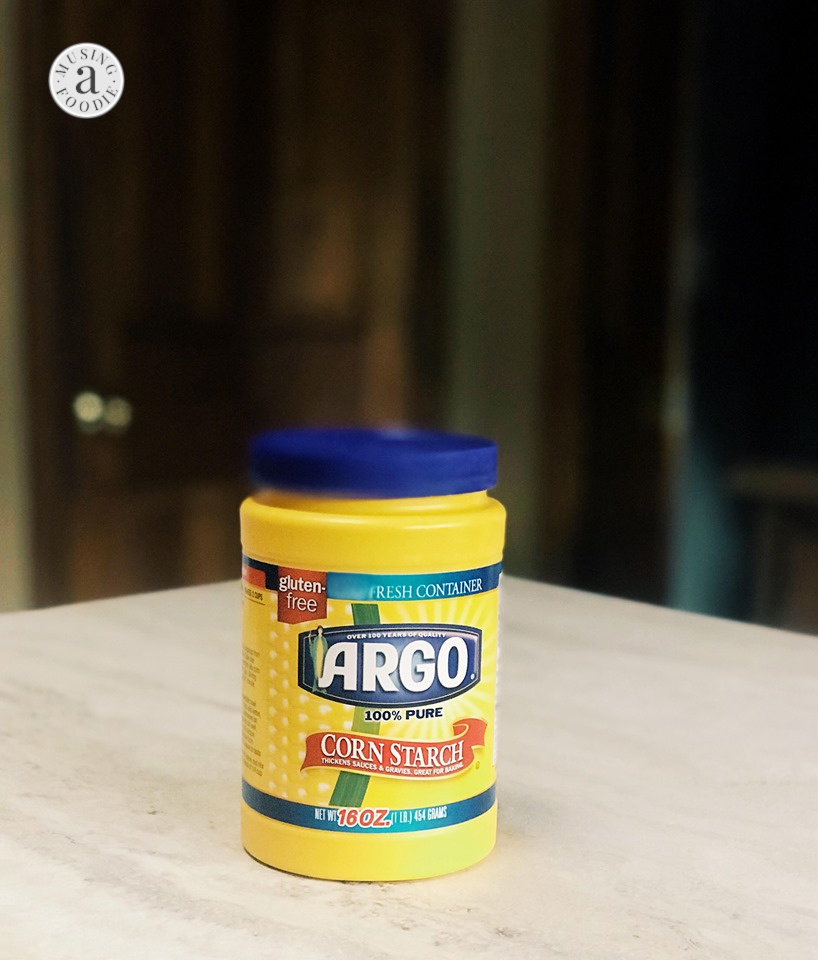 Argo® Corn Starch on the counter.