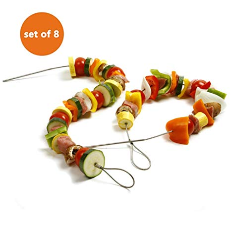 BBQ Flexible Grill Skewers, Set of 8