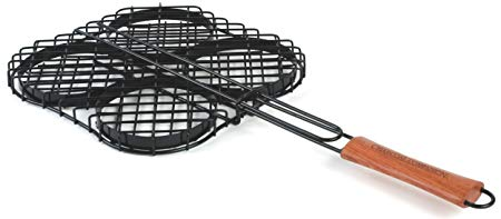 Charcoal Companion Nonstick Hamburger Grilling Basket