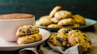 Chocolate Chip & Cranberry Shortbread Cookies