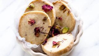 Rose Pistachio Cookies {Shortbread}