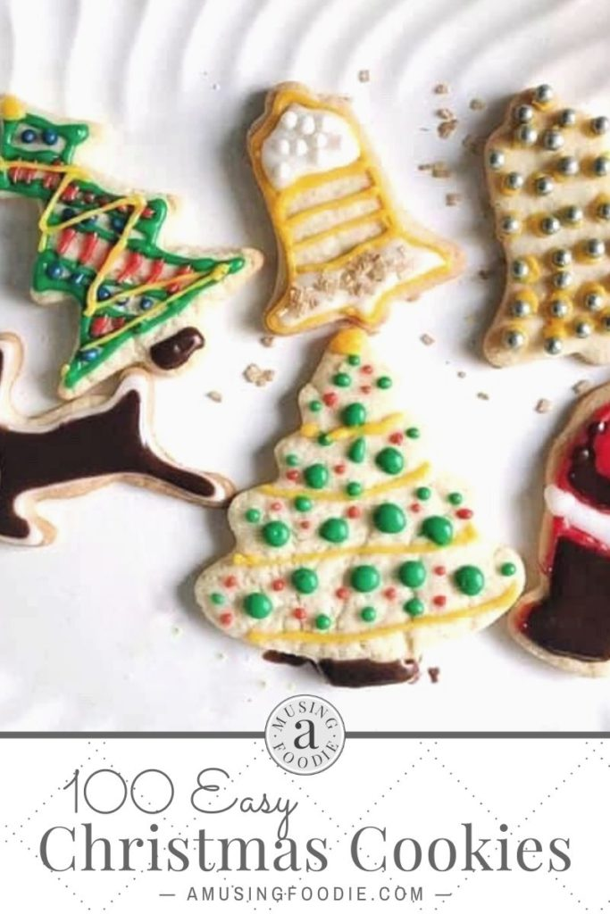 Sugar cookies with sprinkles — easy Christmas cookies to make.