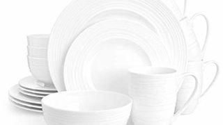 Divitis INFINITY Bone China Dinnerware Set 16pcs (Soup Bowls, Dinner Plates, Salad Plates, Mugs)