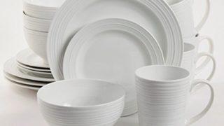 Gibson Overseas, Inc. 102504.16RM Amelia Court 16 Piece Dinnerware Set, White, 1